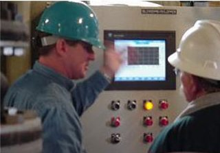 electrical engineer conducting control training
