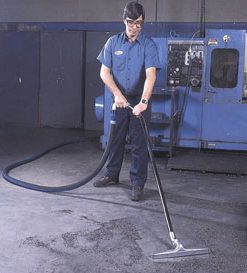 floor cleaning at industrial plant