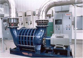 municipal wastewater treatment facility using blue Spencer Power Mizer blowers